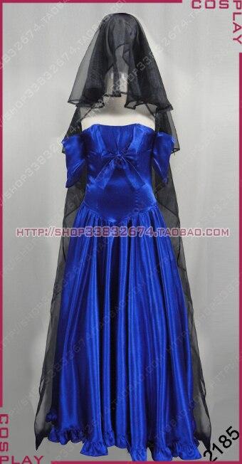 Online get cheap devil blue dress for Cheap wedding dress costume