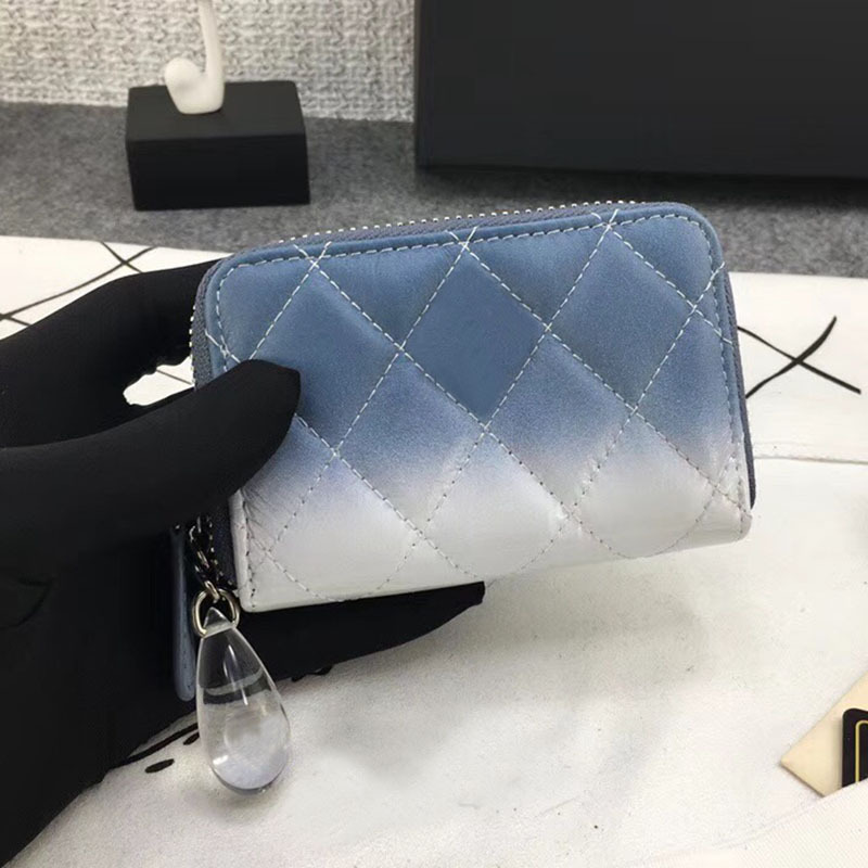2018 New women calfskin luxury short Zipper Coin Purse Card Holder Top quality Fashion Clutch real leather brand Small Wallet