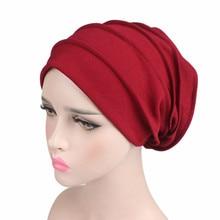 Women Cotton Breathe Hat New Women winter Turban hat Elastic Cloth Hea