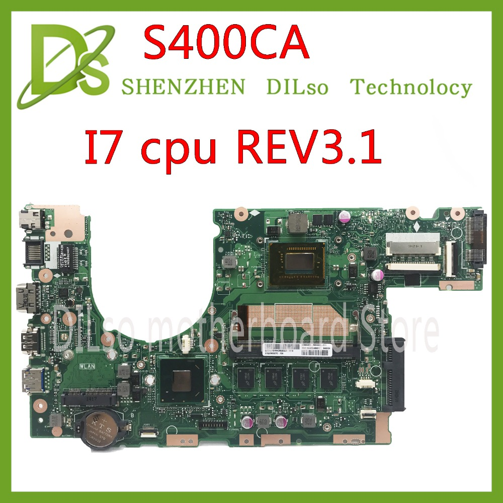 KEFU S400CA For ASUS S400CA/S500CA Laptop motherboard S400CA mainboard I7 CPU Integrated Test work 100%