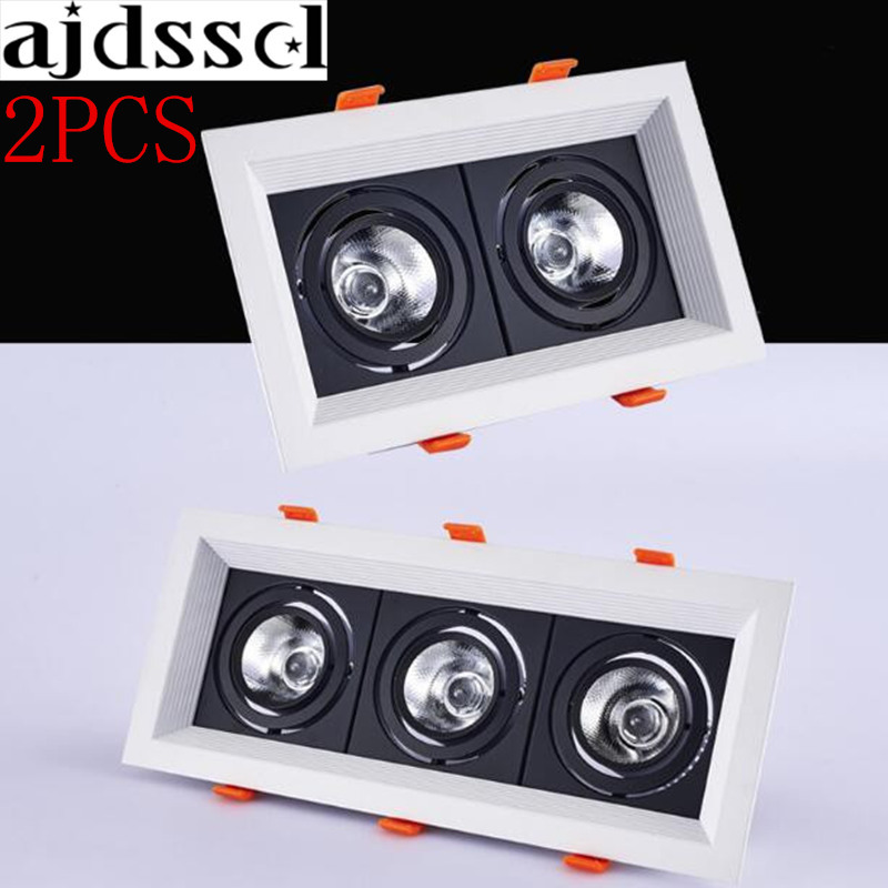 2pcs Square 20w 30w Ac110/220v Led Dimmable Ceiling Downlight Recessed Led Wall Lamp Spot Light Led For Home Lighting 110v 220 Lights & Lighting Ceiling Lights & Fans