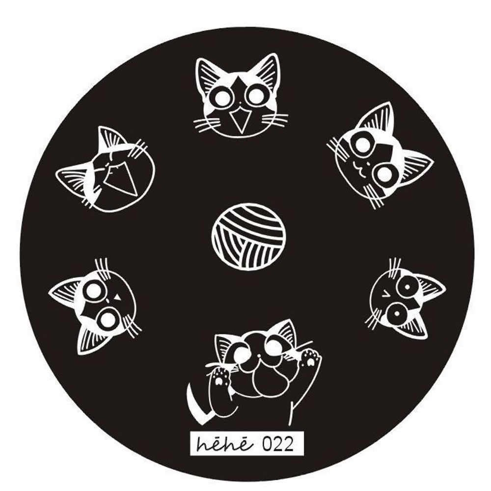 2017 nail stamping plates false nail art display sticks Image Stamp stamping plate Manicure Template Hehe Series carimbo de unha