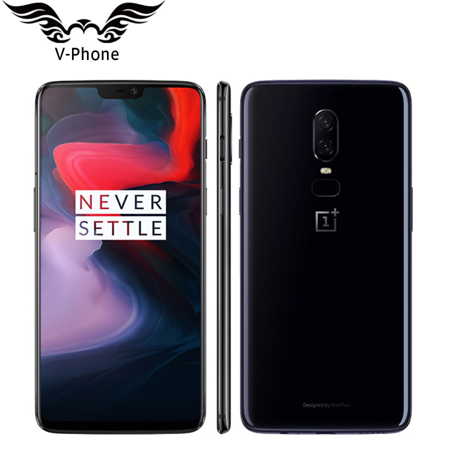 Global Firmware Oneplus 6 Waterproof Mobile Phone 4G LTE 6.28 6GB 8GB RAM 64GB 128GB 256GB ROM Snapdragon 845 Android 8.1 NFC