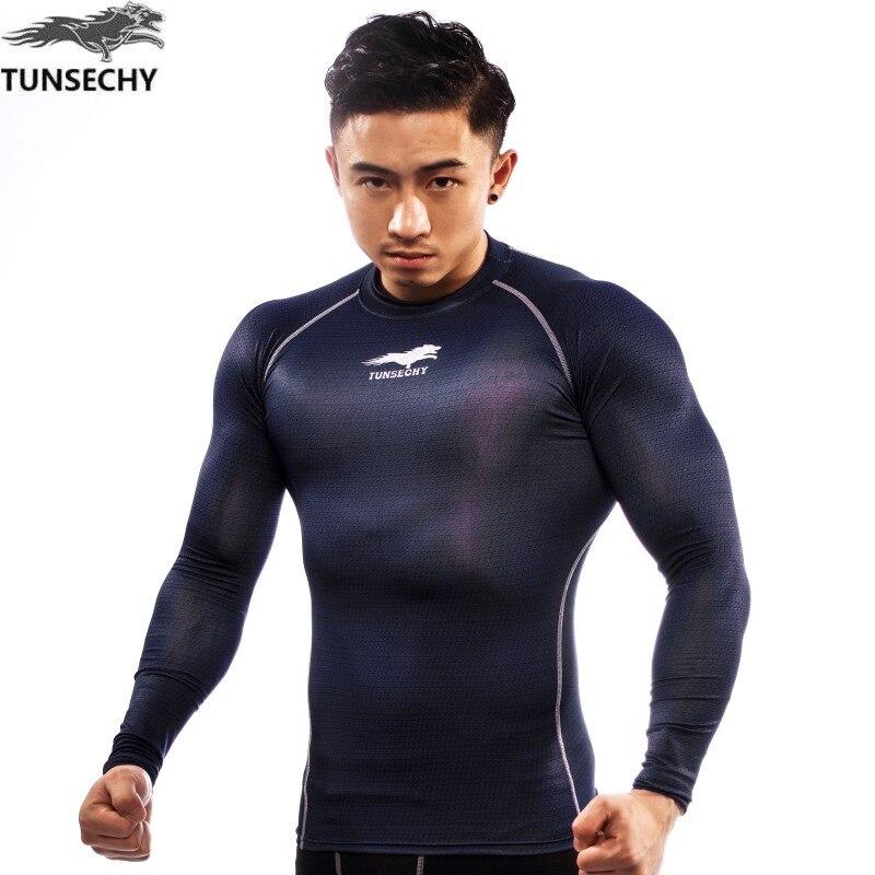 TUNSECHY stile Caldo Manica Lunga Della Pelle Rash Guard Complete Grafici Compressione Shirt Multi-uso Fitness MMA Crossfit Top Camicie