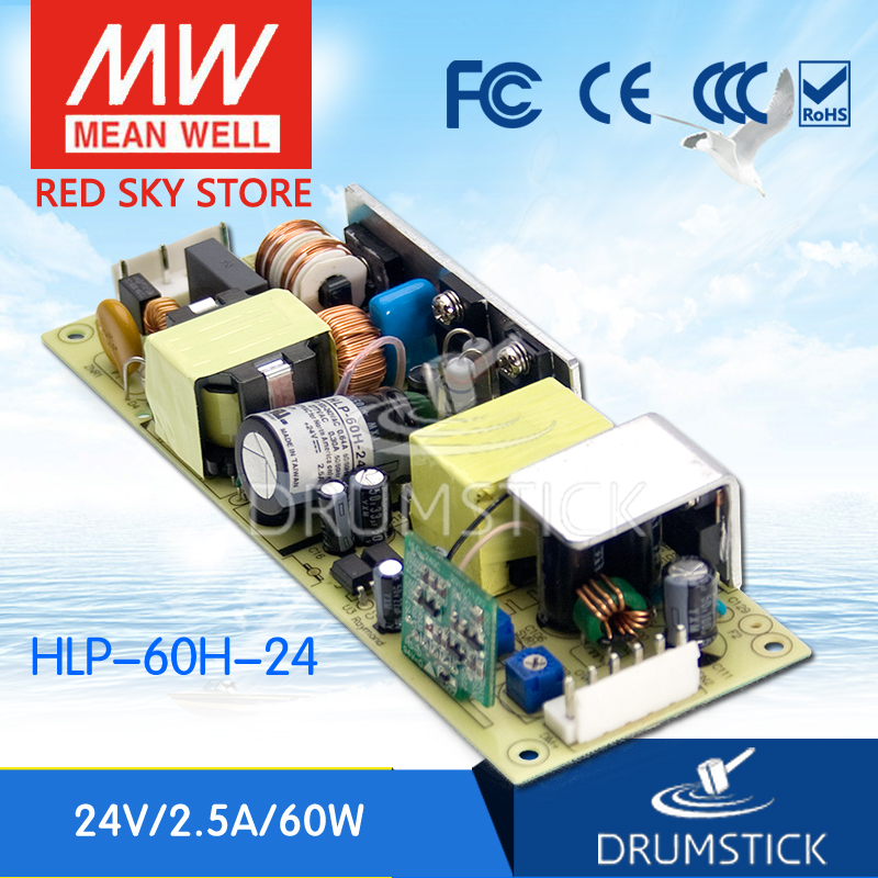 Original MEAN WELL HLP-60H-24 24V 2.5A meanwell HLP-60H 24V 60W Single Output LED Driver Power Supply цены