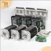 [Germany Stock&EU Free]! CNC Wantai 3Axis Nema34 Stepper Motor 85BYGH450C-060 1700oz-in 151mm 6A CNC Machine Milling Engraving цены
