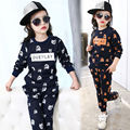 New Year Children Autumn Casual Teenage Girls Clothing Sets Bear Cartoon Girls Suits Clothes Cotton Kids Sets + Pants Spring
