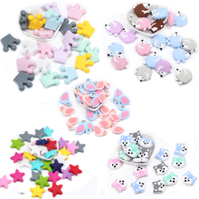 10pc BPA Free Silicone Beads Baby Products Teething Toys Dog