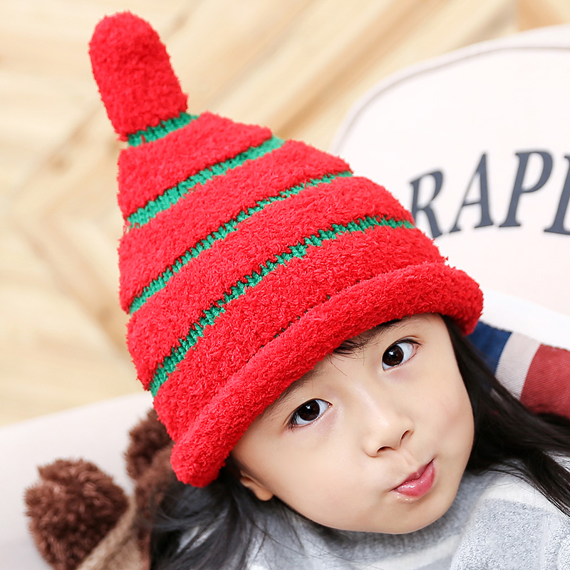 2017 New Novelty Skullies & Beanies Children Winter Hats Pompom Hat Boy Girls Knitted Cap Warm Thick Kids Knitting Beanies skullies