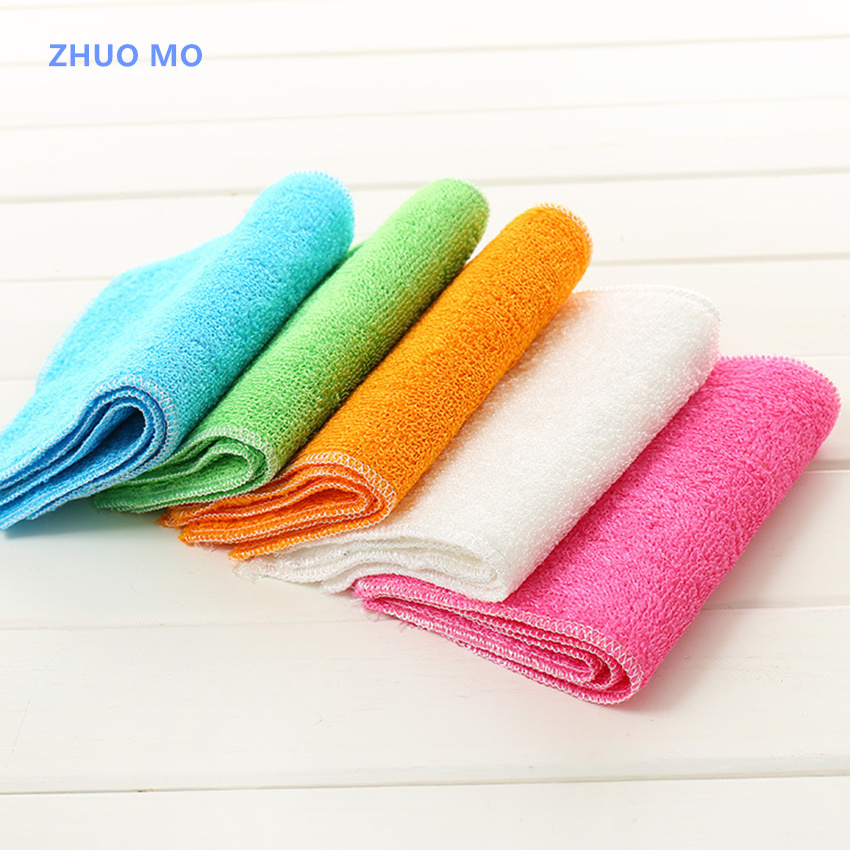 US $6.88 20% OFF|10pcs Microfiber Kitchen Dish Cloth Dish Towels Kitchen  Scouring Cleaning Rag Assorted Color Washing Drying Mats-in Cleaning Cloths  ...