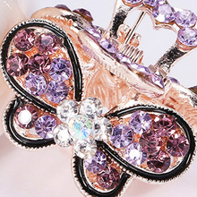 Popular Vintage Women Girl Bling Crystal Hair Claws Clips Pins Headwear Rhinestone Hairpins Barrette Wild Accessories