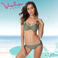 VSHA Women Green Bikini Bandage Swimsuit 2018 Summer Sports Swimwear High Quality Waterproof Bikinis Beach Sunbathing