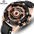 MEGIR мужские часы Топ бренд класса люкс мужские армейские военные спортивные часы модные повседневные кварцевые часы с календарем наручные ...