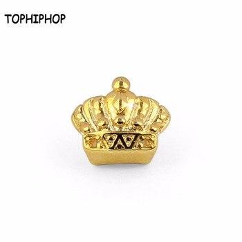 f3a46986a9a5 La corona de oro individual diente para dientes de Halloween Grillz rapero  hip-hop Accesorios