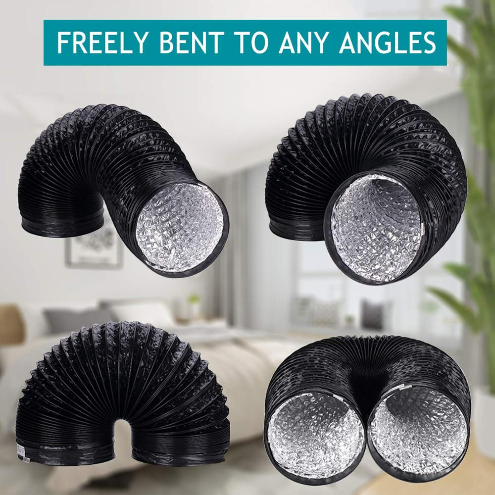 Image 3 - Fan Ducting; 5m 10m Aluminium Flexible Ventilation Ducting, PVC Air Ducting for Kitchen, Toilet, Hydroponics Extractor Fan Duct-in Air Conditioner Parts from Home Appliances