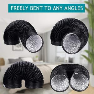 Image 3 - Fan Ducting; 5m 10m Aluminium Flexible Ventilation Ducting, PVC Air Ducting for Kitchen, Toilet, Hydroponics Extractor Fan Duct