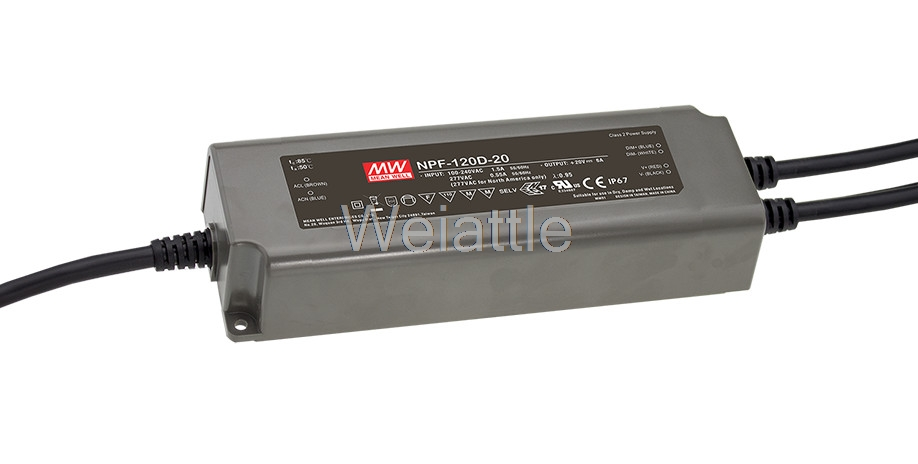 MEAN WELL original NPF-120D-20 20V 6A meanwell NPF-120D 20V 120W Single Output LED Switching Power Supply