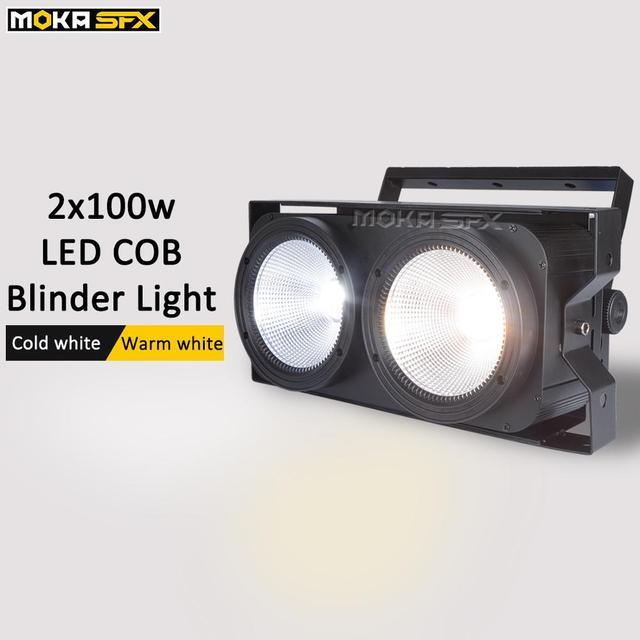 Audience Blinder Lights 2 Eye Cob Par Light  2*100W Led Matrix Blinder Light DMX Led Crowd Blinders Stage Lighting Effect