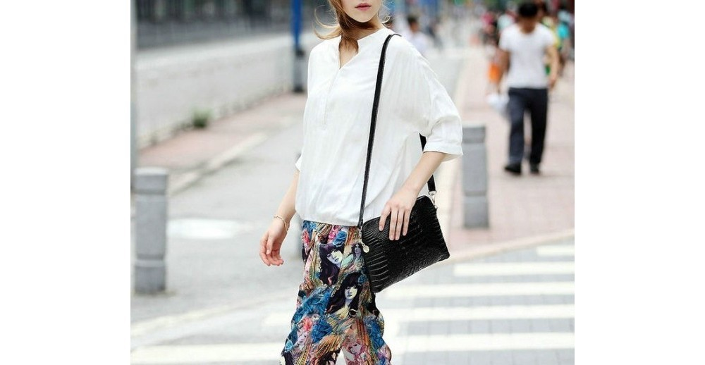 Crocodile Genuine Leather Bag Fashion Elegant Women Handbag Shoulder Bag Messenger Bag Day Clutch 2014 Designer Bolsas Femininas 4