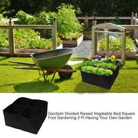 2 Pieces Felt Plants Growing Bag Vegetable Flower Pot Container Non woven Square Garden Bed For Harvesting Growing Vegetables