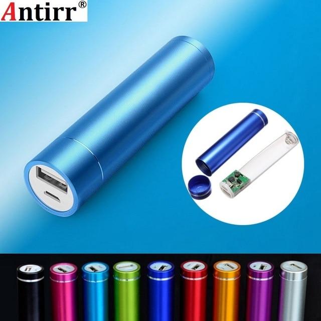 Batterie externe en métal kit de bricolage boîtier de rangement costume de soudage gratuit 1X18650 batterie 5 V 1A USB chargeur externe pour xiaomi samsung téléphone