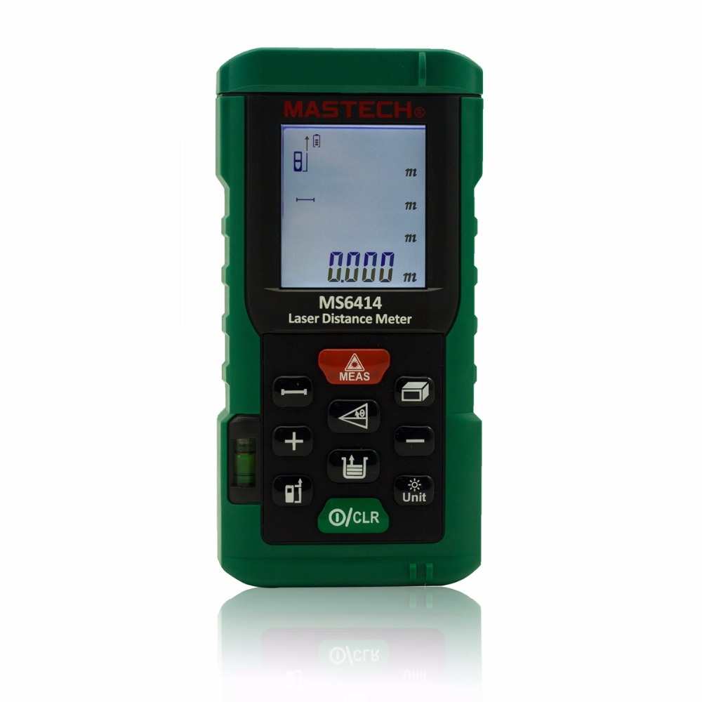 MASTECH MS6414 Laser Rangefinder 40m 131ft Laser Distance Meter Measurer Laser Range Finder Medidor Measure Area/Volume Tool 40m laser distance meter laser rangefinder 40m distance measurer instrument measurement area volume digital measuring tool 013