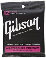 Gibson SAG BRS12 Masterbuilt Premium 80 20 Bronze Light Acoustic Guitar Strings 12 53