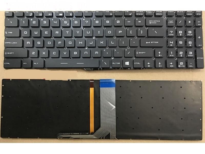 Laptop Keyboard For MSI GT62VR 6RD-033CN GT62VR 6RD-093XCN United States US With Backlit/Without Backlit laptop keyboard for acer silver without frame bulgaria bu v 121646ck2 bg aezqs100110