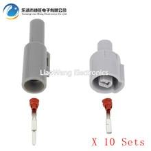 10 Sets 1Pin 2.2 series machine oil sensor plug car waterproof connector with terminal DJ7011Y-2.2-11 / 21  1P plastic