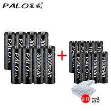 new 8pcs AA Rechargeable Batteries 3000mAh 1.2V AA+Ni-MH AAA Battery 1100mAh rechargeable batteries 3A AA Battery for toys power