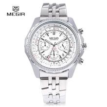 2017 новая мода военная стильный MEGIR бренд дизайн армии бизнес календарь мужчины мужской часы спортивные наручные часы 3005