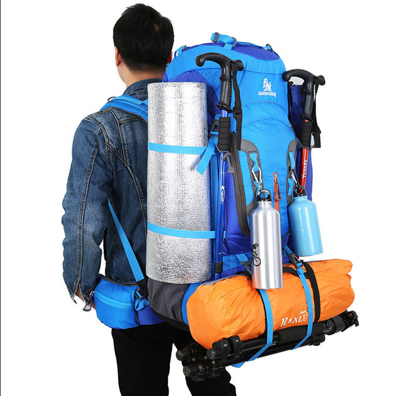 80L Outdoor camping backpack Hiking Climbing Nylon Bag Superlight ...