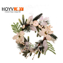 HOYVJOY White christmas wreath Thanksgiving Day Artifical Garland Fake Barries 50cm Flowers Simulation