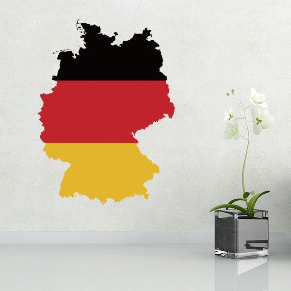 독일의지도 벽 비닐 스티커 사용자 정의 만든 홈 장식 벽 스티커 웨딩 장식 PVC 벽지 패션 디자인