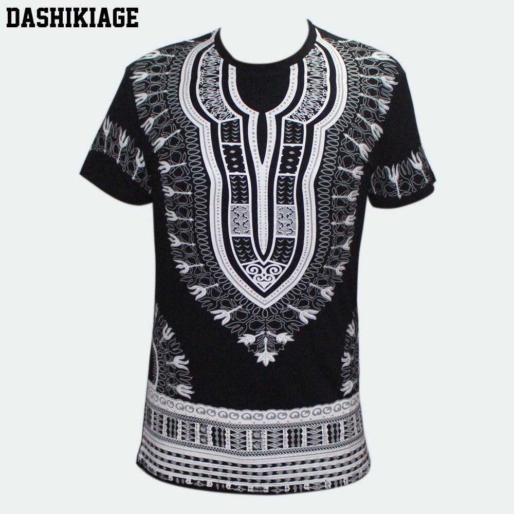 Dashiki African Men Women Kente Shirts Tribal Traditional Ethnic Blouse Top