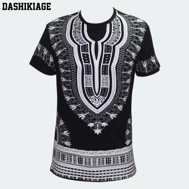 0bbc010c73b Dashikiage Unisex Women Men s African Dashiki T-shirt Boho Hippie Kaftan  Festive Tribal Gypsy Ethnic Top Traditional Blouse