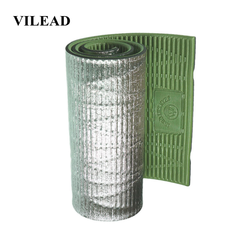 Vilead Thickened Winter Camping Mat 190*55*2 Cm Profession Yoga Mat Lightweight Ixpe Foam Folding Sleeping Pads Camping Hiking