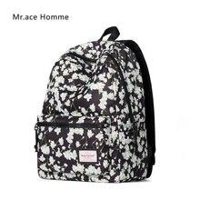 Mr. ace homme женская с цветочным принтом рюкзак для девочек-подростков школьников сумки женские модные путешествий рюкзак для ноутбука женский
