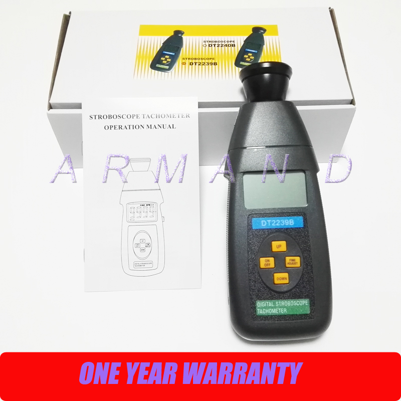 Stroboscope DT2239B Non-Contact flash tachometer Digital photoelectric revolution meter 60~19,999RPM diagnostic tool digital laser tachometer rpm meter non contact motor lathe speed gauge revolution spin free shipping