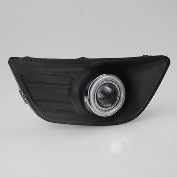 eOsuns CCFL angel eye led daytime running light DRL + halogen Fog Light + Projector Lens for Citroen C4 2008-11