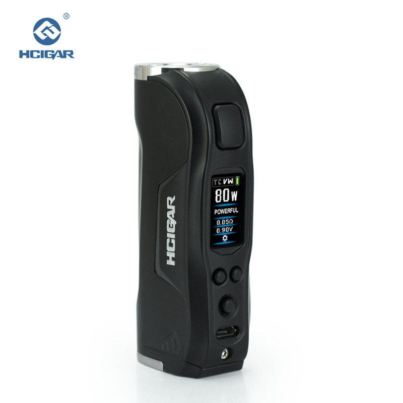 HCIGAR Warwolf Vape Mod Output 1-80w WATT And TEMP Mode Vaporizer 18650 Battery Mini Box Electronic Cigarettes Mod