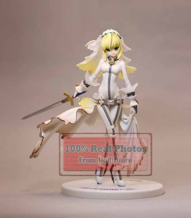 21cm Japanese original anime figure fate/stay night saber white wedding dress action figure collectible model toys for boys 21 5cm sega japanese original anime figure sega spm love live sunshine sakurauchi riko action figure collectible model toys fo