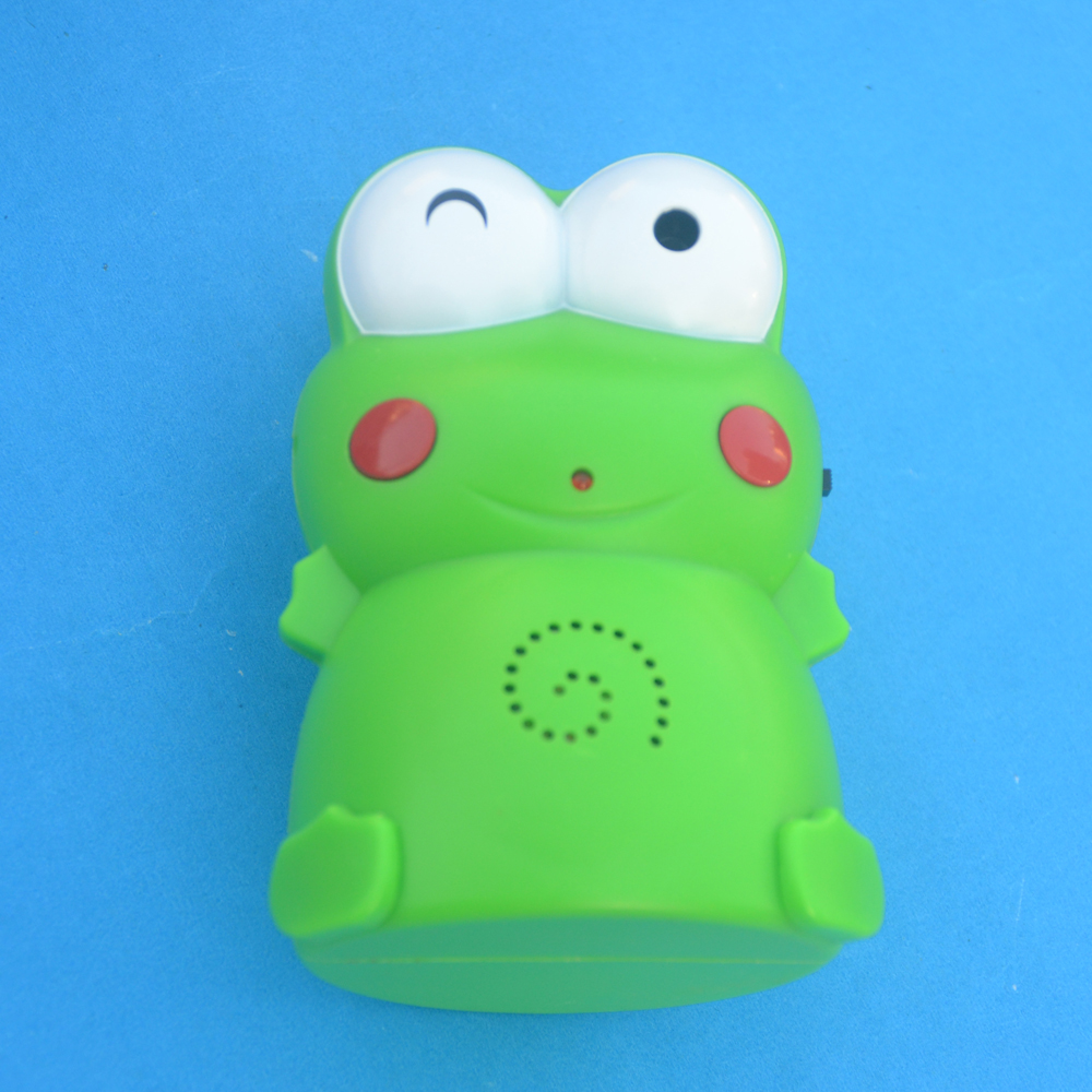Doorbell Lovely Frog Design Entry Safety Doorbell Recordable Welcome Chime Alarm 1pcs