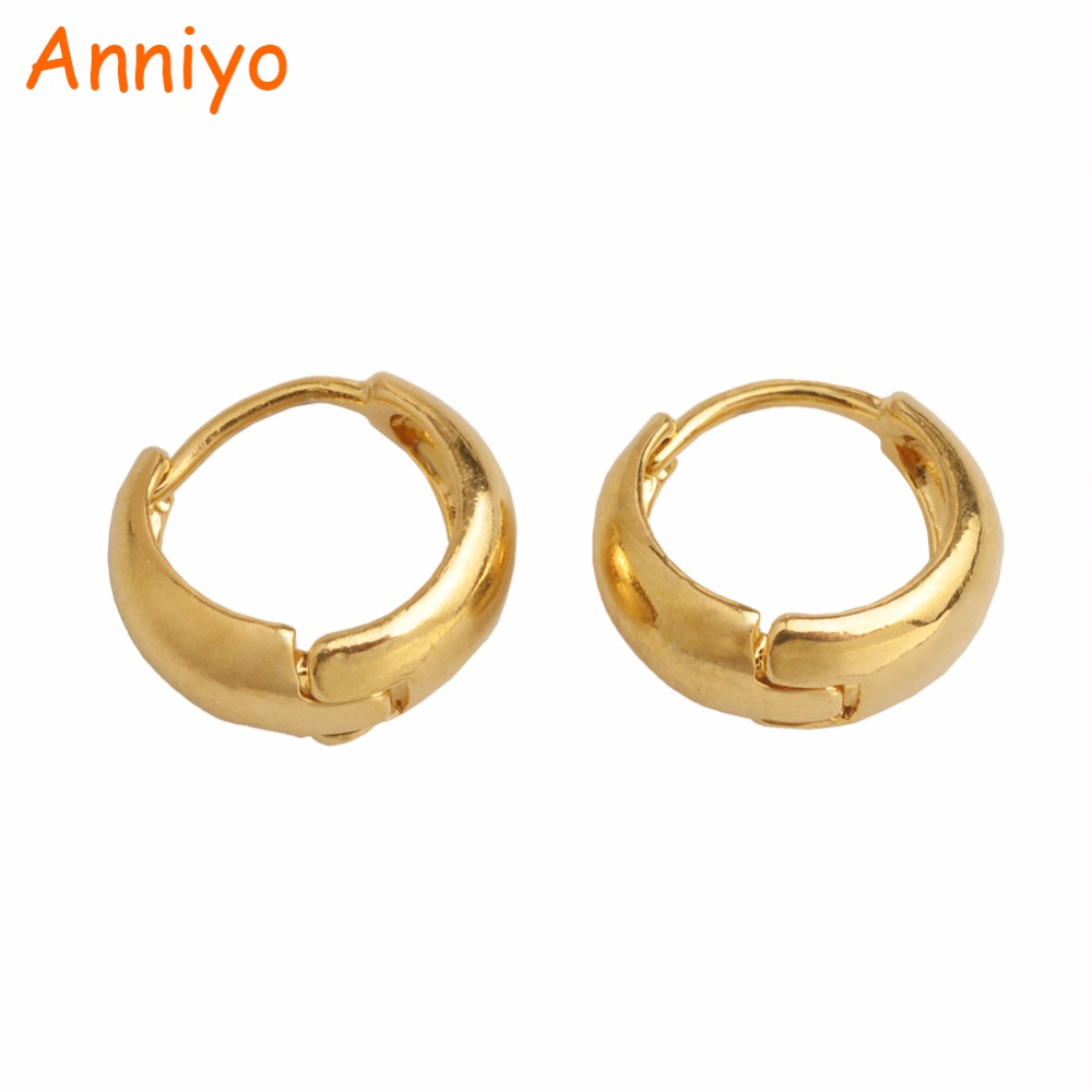 Anniyo SMALL Earring For Girl/Baby,Trendy Gold Color Jewelry Of Child Birthday Gifts #006116