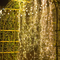 SPLEVISI 2M 200LED Waterproof Tree Vine Branch Copper Wire Fairy String Lights Holiday Party Wedding Lights