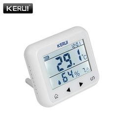 KERUI TD32 LED Display Wireless Temperature Adjustable Detector Alarm Sensor compatible with gsm home Security alarm system