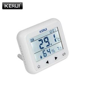 Image 1 - KERUI TD32 LED ekran kablosuz sıcaklık ayarlanabilir alarmlı dedektör sensörü ile uyumlu gsm ev güvenlik alarm sistemi