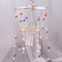 Baby Rattles Mobile Wooden Beads Trojan Wind Chimes Toys For Kids Room Bed Hanging Decor Tent Photography Props Gifts