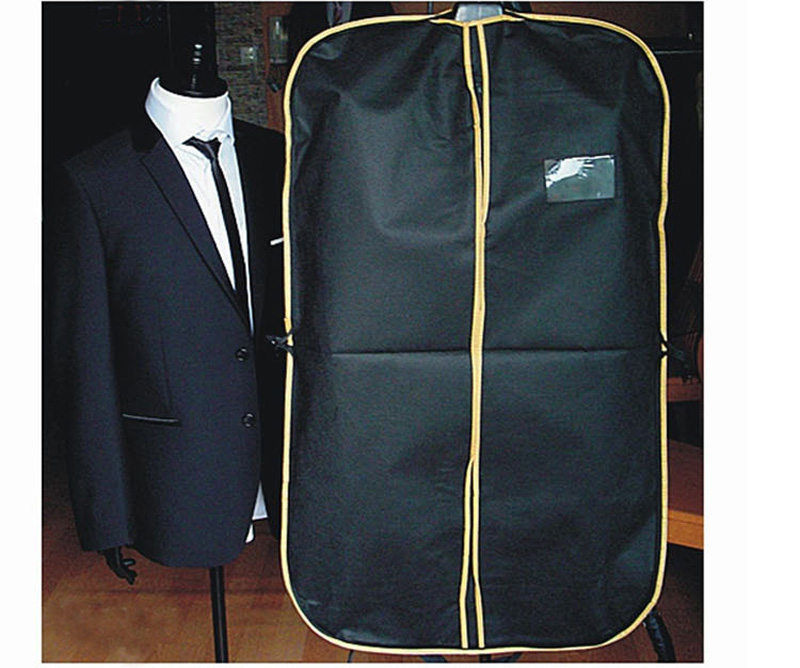 2916b74d6b4 Black Suit Dress Coat Shirt Garment Clothes Storage Bag Travel Carrier Cover  Dustproof Hanger Protector