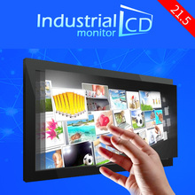 Promotion! 21.5 inch capacitive touch screen metal frame lcd monitors ten point touch screen industrial monitor for sale(China (Mainland))
